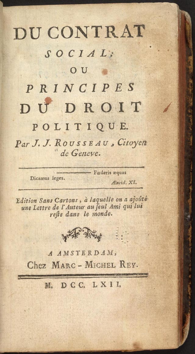 A response to social contract a political treatise by jean jacques rousseau